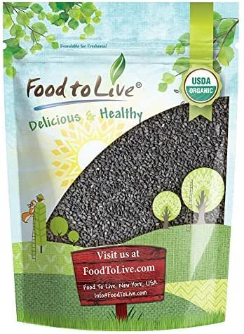 Organic Black Sesame Seeds (Raw, Unhulled, Non-GMO, Kosher, Vegan, Bulk, Kala Til) — 1 Pound