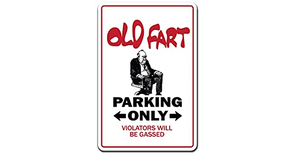 Amazon.com: Old Fart novedad signo | interior/exterior ...