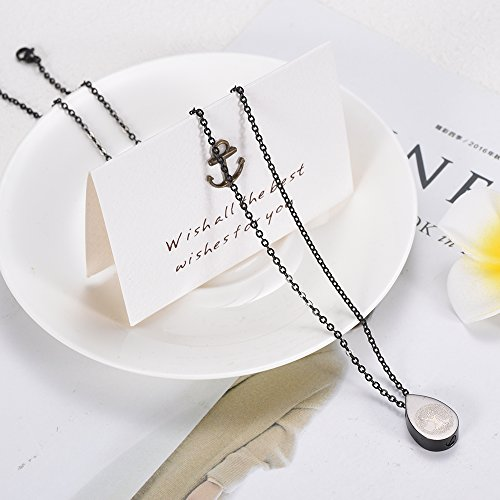 ZWT7797 Teardrop Tree of Life Memorial Ashes Urn Necklaces Stainless Steel Cremation Pendant Jewelry by Love of Life (Image #1)