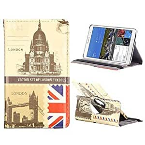 LIMME England Famous Buildings PC+Leather 360 Degree Rotate Flip Stand Case with Elastic Belt for Samsung Galaxy Tab Pro 8.4 T320