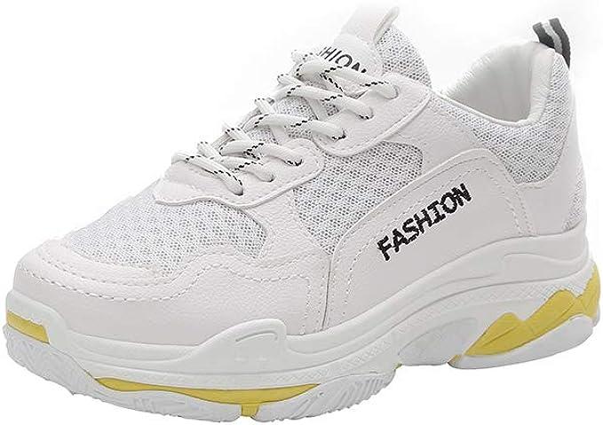WL Zapatillas De Deporte Para Mujer Zapatos Para Correr Zapatos Retro Primavera Harajuku Style Wild Zapatos Casuales,White,37: Amazon.es: Ropa y accesorios