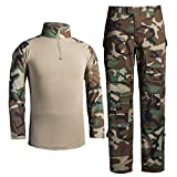 LANBAOSI Tactical Combat Waterproof Shirt Pants Hiking Fast Dry Set Military Uniform