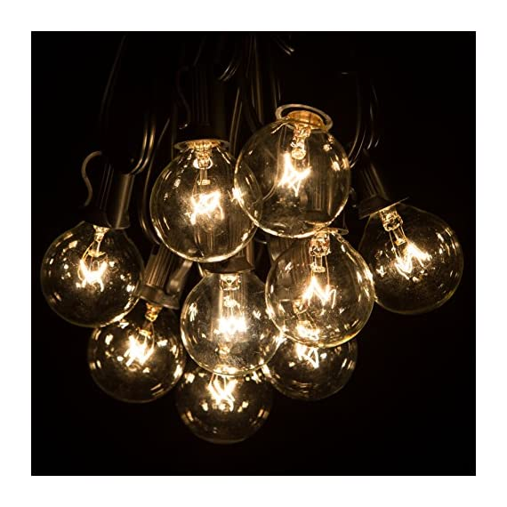 50 Foot Globe Patio String Lights - Set of 50 G40 Clear Bulbs -  - patio, outdoor-lights, outdoor-decor - 51mj9heLAzL. SS570  -
