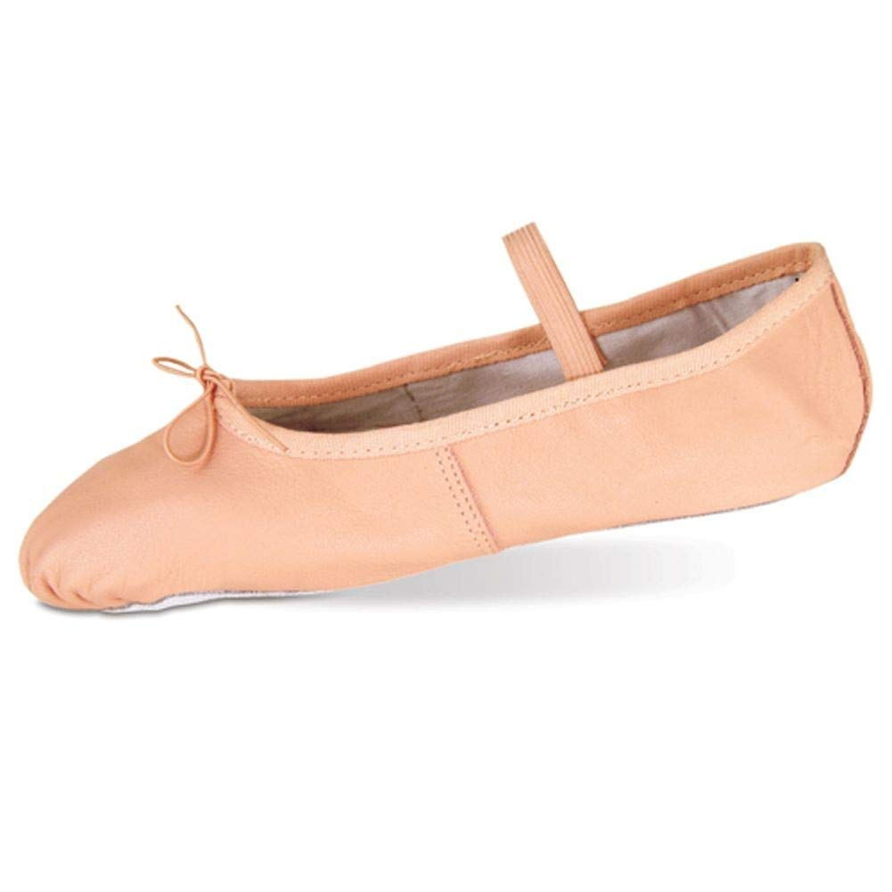 [Danshuz] Toddler Little Girlsピンクデラックスレザーバレエ靴サイズ6 – 3 B00838JOH6  1 Kids