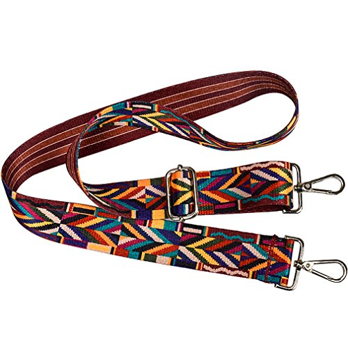 dc3eff4f035a Wide Strap 122 cm Replacement Guitar Style Multicolor Crossbody Strap for  Handbags