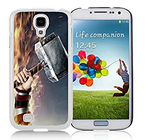 Galaxy S4 Case,Thors Hammer White For Samsung Galaxy S4 i9500 Case