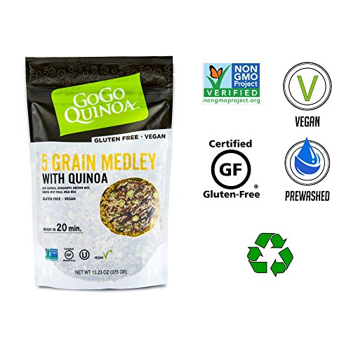 Soup Split Facts Nutrition Pea - GoGo Quinoa Nutrition Rich Medley 5 Grains With High Iron and Fiber, Fair Trade and Kosher Certified, Non GMO Verified 1.66 Lbs