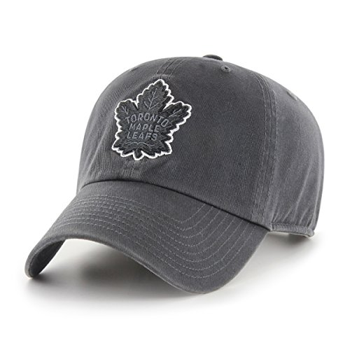 NHL Toronto Maple Leafs Male OTS Challenger Adjustable Hat, Dark Charcoal, One Size