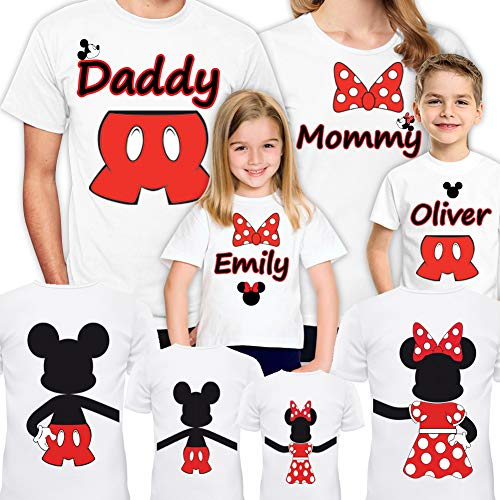 Disney Family Shirts Set of 4-5-6-7 Mickey Minnie Vacation Matching Trip for Gift Christmas T-Shirt 2019 White]()