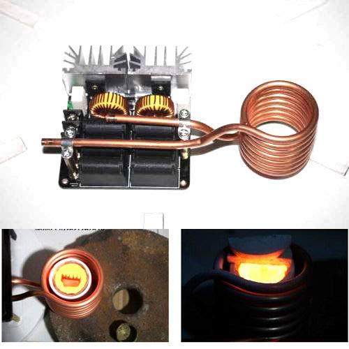 FidgetKute 1000W ZVS Low Voltage Induction Heating Board Module/Tesla Voil Power 12-48V 20A