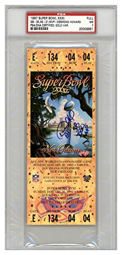 Desmond Howard Signed Autograph SB XXXI Ticket Green Bay Packers SB XXXI MVP PSA/DNA Authentic