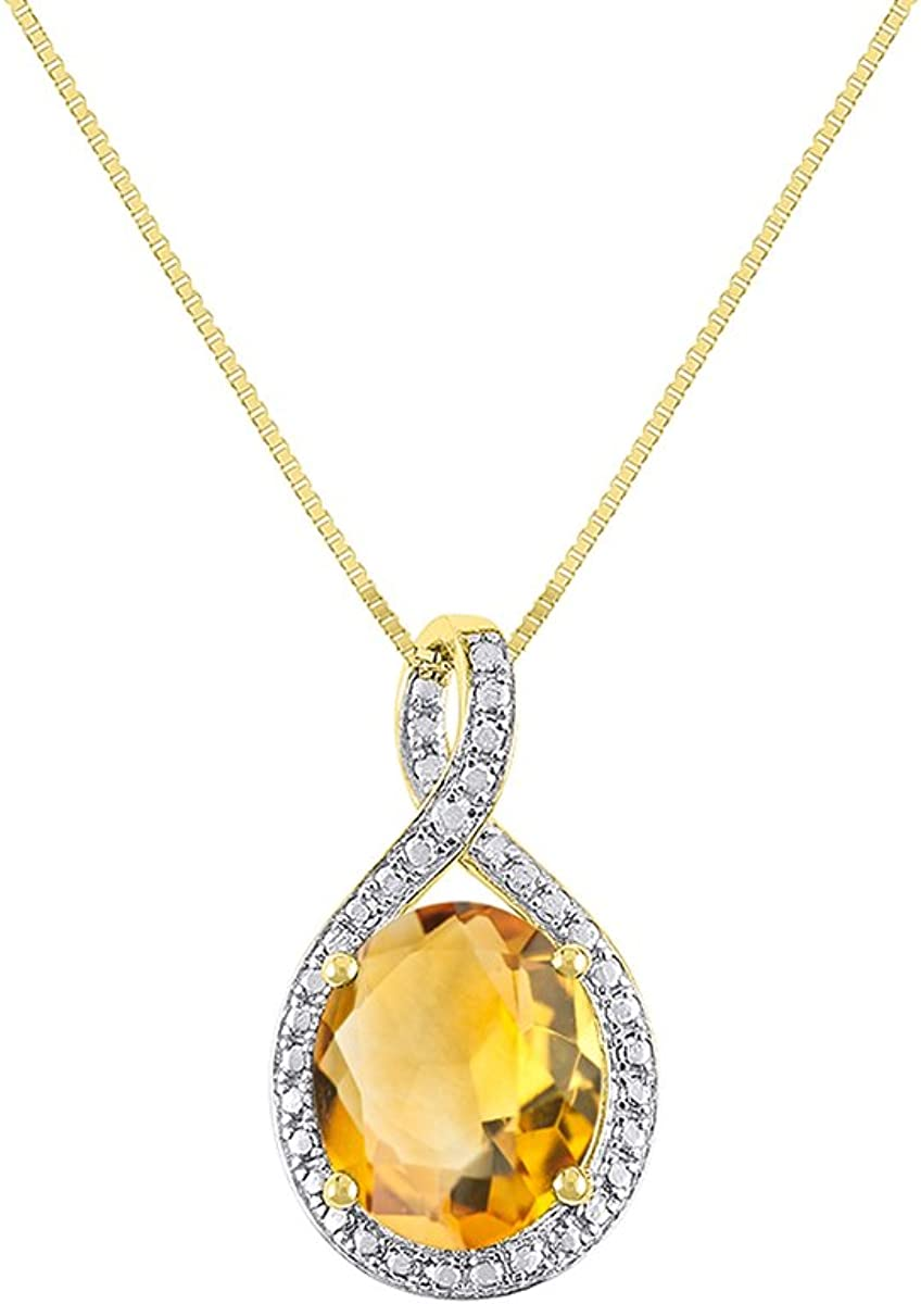 Details about  /Natural Gem Triangle Citrine 18KYellow Gold Leaf Necklace Fine Jewelry For Women