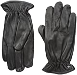 GII Men's Fine Leather Gloves with Melange Fleece Lining, Black, Large