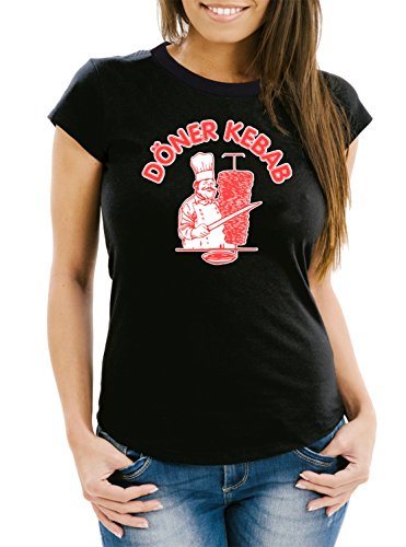 Döner Kebab T-Shirt Girls Black Certified Freak