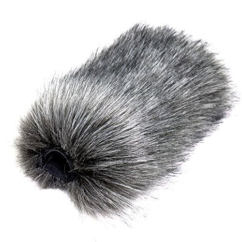 (Bestshoot Outdoor Microphone Furry Windscreen Muff for MIC-01 MIC108 MIC-121 Stereo Microphone, TAKSTAR SGC-598, NW-598, SHENGGU SG209 SG108 & Similar Mics (Medium))