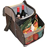 Dr. Driver Travel and Tailgate Car Cooler Bag with Shoulder Strap, Soft Sided and Insulated for Lunches, Picnics, Camping and Sporting Events (Black/Grey)