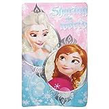 Disney Frozen Childrens Girls Sharing The World Fleece Blanket (39in x 59in) (Pink/Blue)