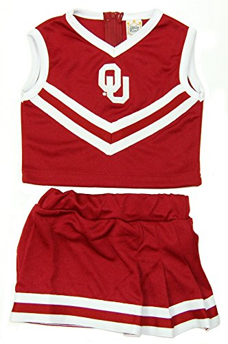 NCAA Oklahoma Sooners Two Piece Cheer Dress, 4 Tall, Cardinal (Oklahoma Sooners Infant Two Piece)