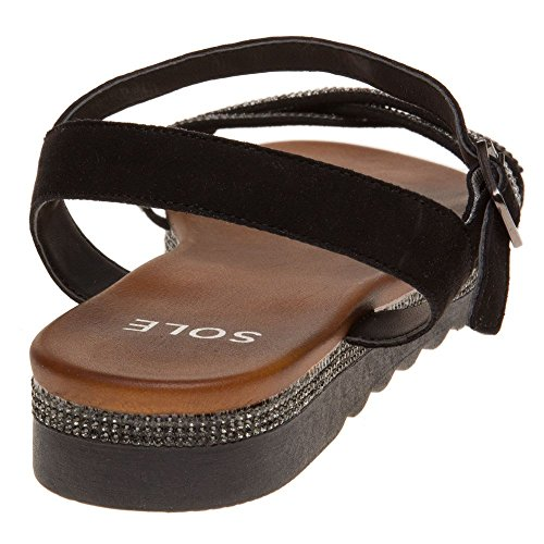 Sandals Black Antonia Sole Sole Antonia Black wqzZvxt6