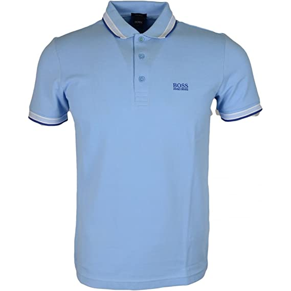 3c57e4930 Hugo Boss Green 50302557 Paddy Regular Fit Pique Sky Blue Polo L:  Amazon.co.uk: Clothing