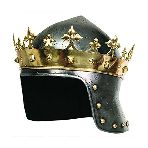 Armor Venue - Richard the Lionheart Medieval Helmet w/ Stand Metallic One Size