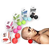 PHYSIX GEAR SPORT Massage Balls - Best Muscle Roller for Plantar Fasciitis, Foot Reflexology, Trigger Point & Back Pain Deep Tissue Roller for Acupressure Therapy & Myofascial