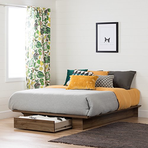 South Shore 11283 Holland Platform Bed (54/60''), Full/Queen, Natural ()
