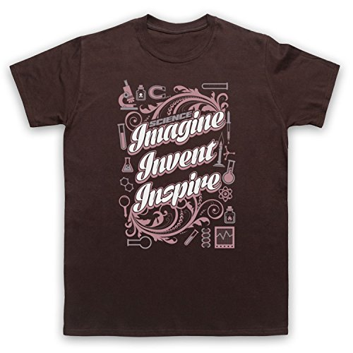 Science Imagine Invent Inspire Camiseta para Hombre marrón