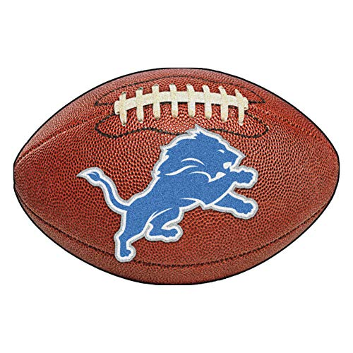 FANMATS NFL Detroit Lions Nylon Face Football Rug