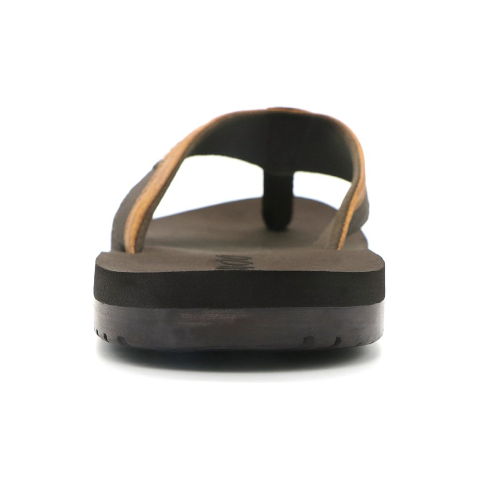 HUMMOO Men's Classic Summer Flip Flops - Thong Athelic Sandals (42 EU/ 9 US, Brown) by HUMMOO (Image #3)