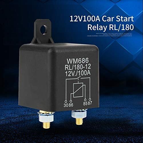 avec 2 Pin Empreinte Gebildet 1 pi/èce 12VDC 100A Robuste on//Off Relais pour Automobile//Voiture//Camion//Van//Moto//Bateau Normalement Ouvert RL//180-12 SPST 4 Pin 2 Terminal