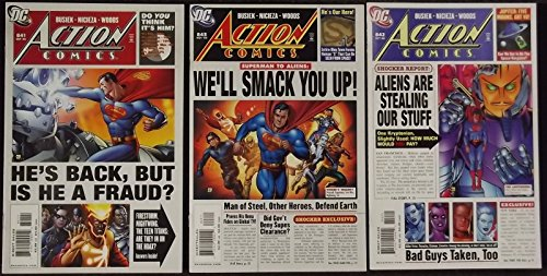 "ACTION COMICS #'s 841, 842, 843 COMPLETE ""BACK IN ACTION"" STORY LINE"