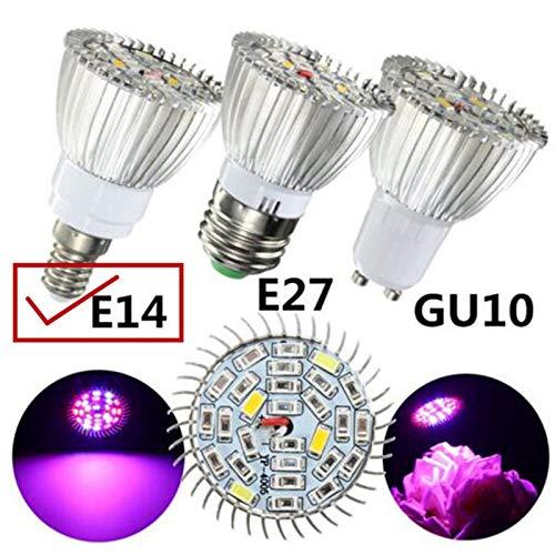 Ocamo LED Full Spectrum Plant Grow Light Lamp for Indoor Garden Greenhouse Supplies 10W E14