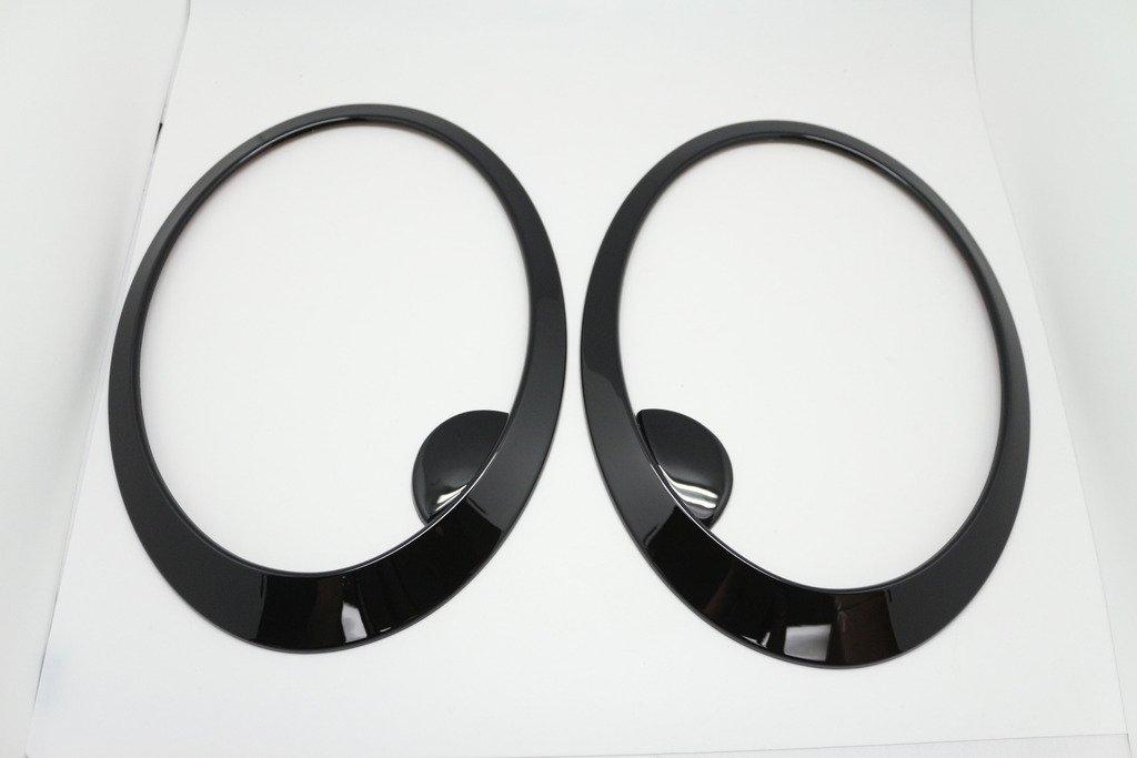 (2) Noir Phare Surround pour mini Cooper/S/un R56Hatch R58Coupé R59Roadster CAR LAB