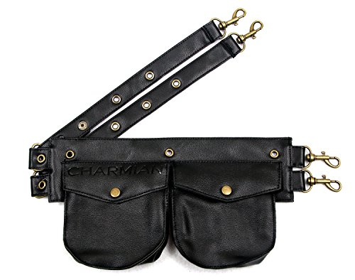 Charmian Women's Steampunk Gothic Leather Pouch Belt Corset Costume Accessories Black one-size