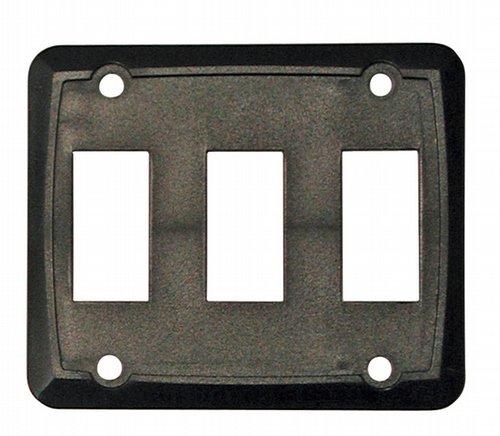 Diamond Group P7315C RV Trailer Camper Electrical Face Plate Triple Black 1/Card