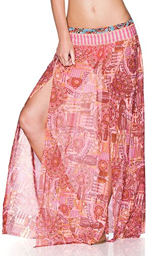 Maaji Women's South Pacific Sunrise Long Skirt Cover Up, Multi, Medium