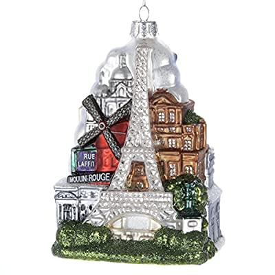 "Kurt Adler 5-Inch Glass ""Paris City"" Ornament"