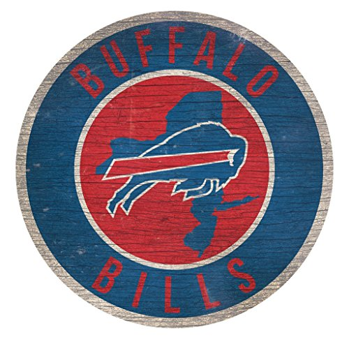 Fan Creations Buffalo Bills Wood Sign 12 Inch Round State Design