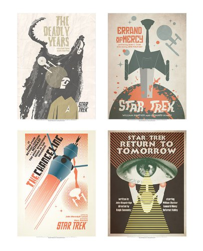 QMx Star Trek: The Original Series Art Prints Set 17 (Star Trek The Original Series The Changeling)