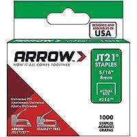 Arrow Fastener 215 Genuine JT21/T27 5/16-Inch Staples, 1,000-Pack