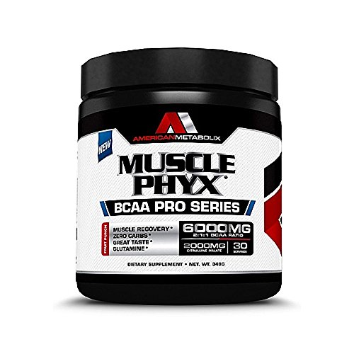 American Metabolix Musclephyx BCAA Pro Series Supplement,, Fruit Punch, 12.27 Ounce Review
