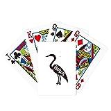 Grey Heron Black And White Animal Poker Playing Card Tabletop Board Game Gift