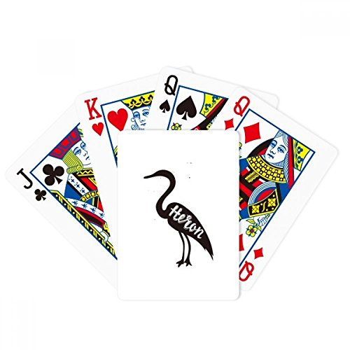 Grey Heron Black And White Animal Poker Playing Card Tabletop Board Game Gift by beatChong
