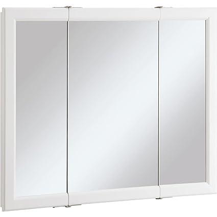 Design House 545103 Wyndham White Semi Gloss Tri View Medicine