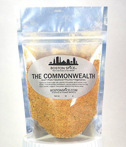 Boston Spice The Commonwealth Mesquite Seasoning Blend for Ribs Pork Steak Beef Hamburgers Seafood Poultry Chicken Shrimp Fish Scallops Wings Venison (Approx. 1 Cup of Spice)