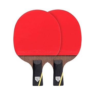 XGGYO Formación Palas Tenis Mesa, 2 Pala de Ping Pong, Madera de 5 ...