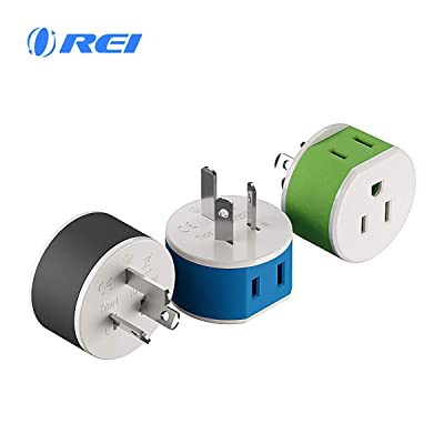 Australia, New Zealand, China Power Plug Adapter by OREI with 2 USA Inputs - Travel 3 Pack - Type I (US-16) Safe Grounded Use with Cell Phones, Laptop, Camera Chargers, CPAP, and More: Electronics