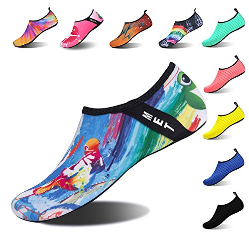 Surf Yoga for Dry Aqua Blue Swim Shoes Womens Water Barefoot Exercise Socks Beach Surfing Quick and Kids Mens 1Wc1qvg8O6