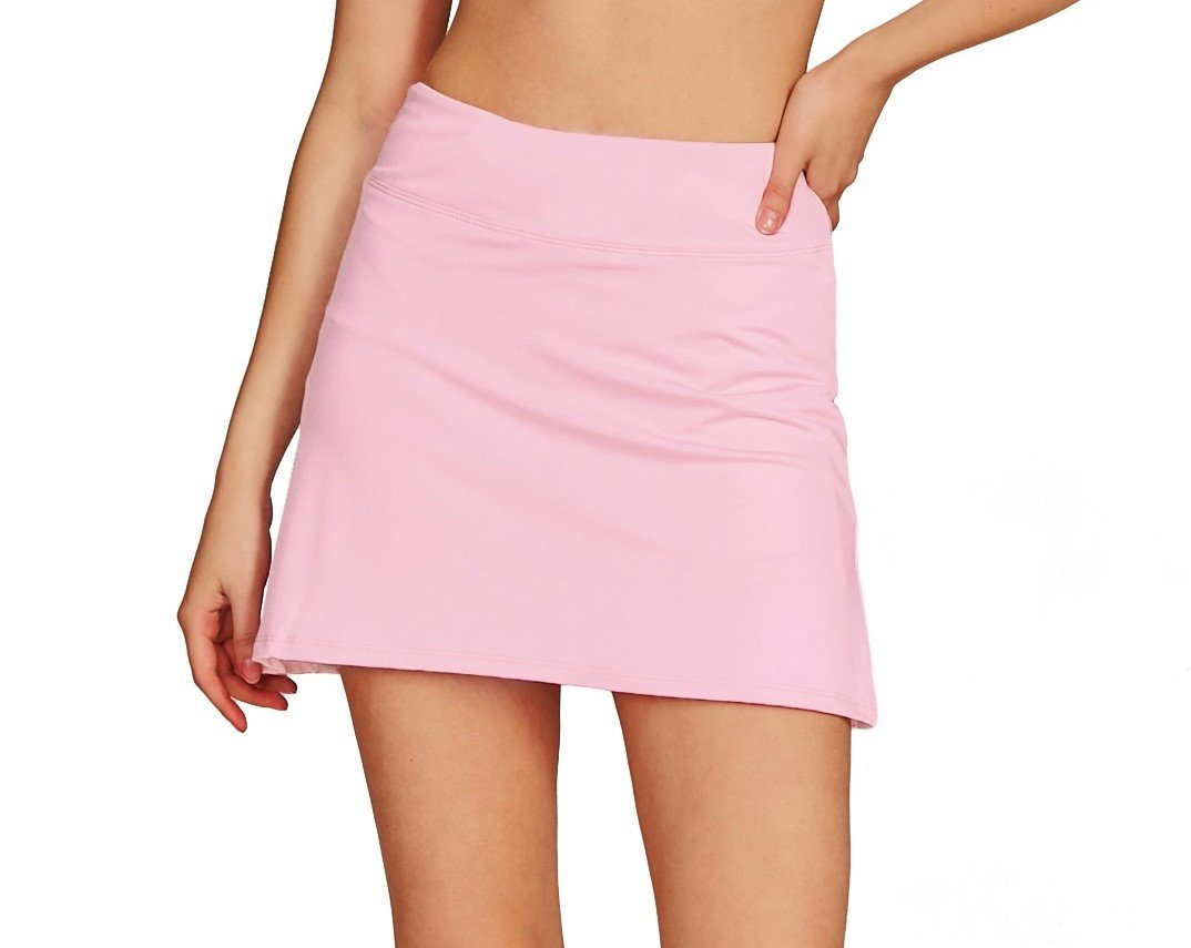 Cityoung Women's Casual Pleated Tennis Golf Skirt with Underneath Shorts Running Skorts l_pk l by Cityoung